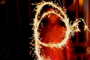Muhammad Hanis playing with Firework Bunga Api during last Aidil Fitri 2007