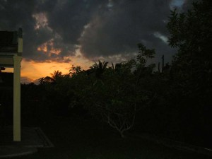 Sunrise at my back yard at Raub Pahang Malaysia