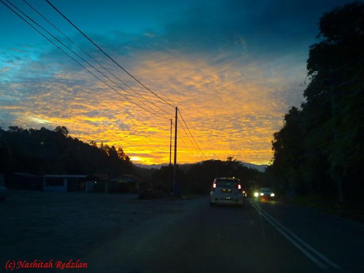 Nisfu Syaaban Sunset